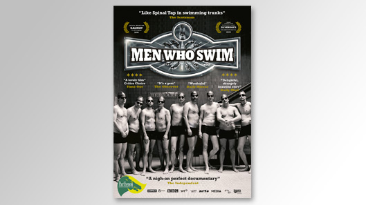 Advertising materials for TV documentary Men Who Swim